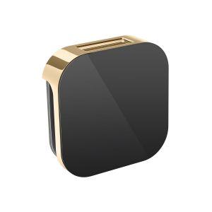 AromaSteam 3 in. Steam Head Black Polished Brass