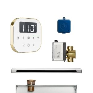 AirButler Linear Package White Polished Brass