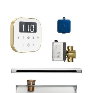 AirButler Linear Package White Satin Brass