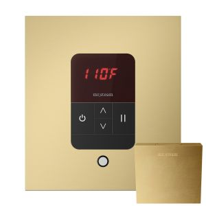 iTempo Square Steam Shower Control in Satin Brass