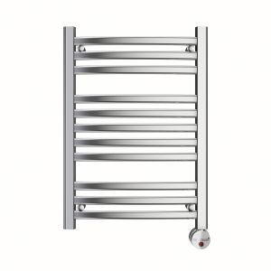 W219 8-Bar Wall Mounted Electric Towel Warmer with Digital Timer in Polished Chrome