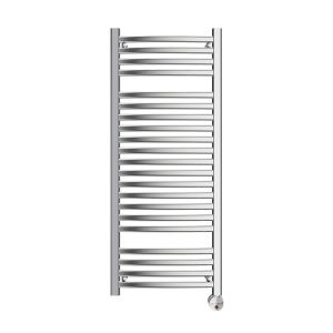 W236 13-Bar Wall Mounted Electric Towel Warmer with Digital Timer in Polished Chrome